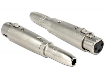 Adaptor XLR 3pini M la Jack stereo 6.35mm M mono, Delock 84650