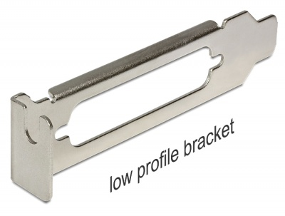 Imagine Slot Bracket low profile pentru SUB-D 25, Delock 89230
