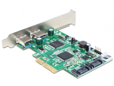 Imagine PCI Express cu 2 x USB 3.0 externe , 2 x SATA 6 Gb/s interne, Delock 89359