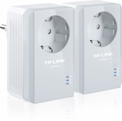 Imagine Kit Adaptor Powerline 500Mbps, AC pass through, TP-LINK TL-PA4010PKIT