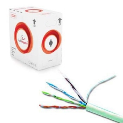 Imagine  Cablu retea UTP cat. 6 AWG24 cupru solid 305m, GEMBIRD UPC-6004SE-SO