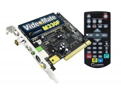 Tuner TV COMPRO VideoMate M330F, PCI, telecomanda