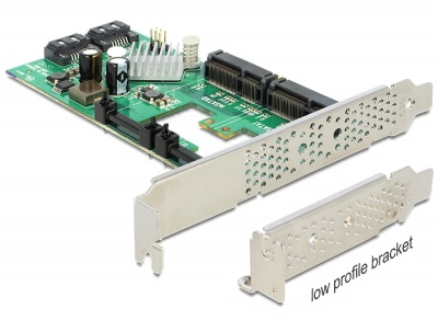 Imagine PCI Express cu 2x SATA 6 Gb/s Hybrid + 2x mSATA, Delock 89372