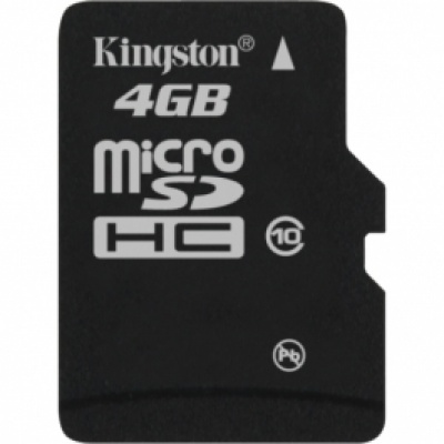 Card de memorie micro SDHC 4GB class10, adaptor SD, KINGSTON SDC10/4GB