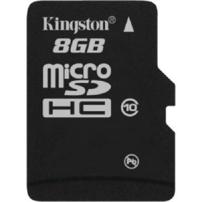 Card de memorie micro SDHC 8GB class10, adaptor SD, KINGSTON SDC10/8GB