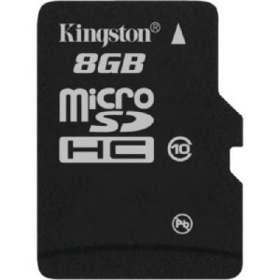 Card de memorie micro SDHC 8GB class10, adaptor SD, KINGSTON SDC10/8GB