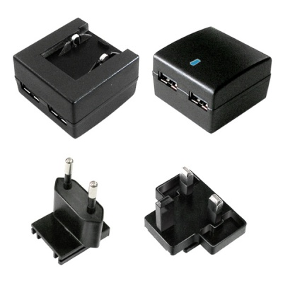 Imagine Incarcator priza cu 2 x USB + adaptor UK, 10W/2A, Value 19.99.1061