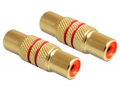 Adaptor RCA M-M conectori auriti, Delock 84503