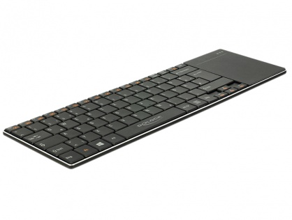 Tastatura wireless pentru Smart TV si PC Windows cu Touchpad 6 mm, Delock 12454