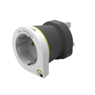 Adaptor priza EUROPA la UK, Q2POWER 19.07.1587