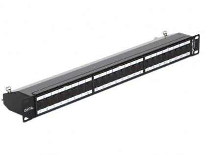 "Patch Panel 19"" 24 Porturi Cat.6A Negru, Delock 43320"