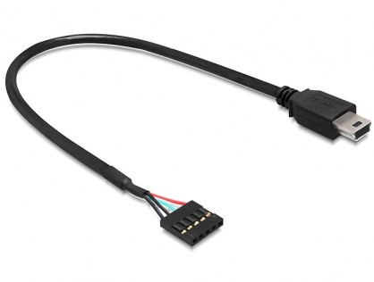 Cablu USB 2.0 pin header la USB mini M-T 30 cm, Delock 83170