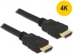 Cablu HDMI High Speed cu Ethernet 4K 0.5m, Delock 84751