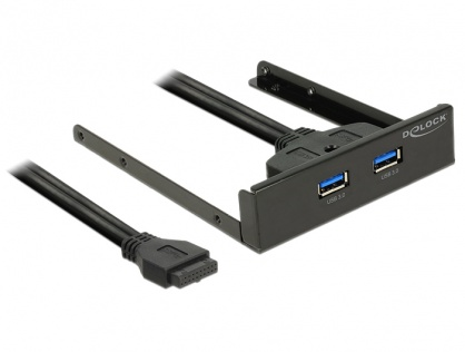 "Front Panel 3.5"" la 2 x USB 3.0, Delock 62702"