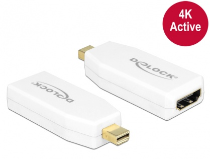 Adaptor mini Displayport 1.2 la HDMI T-M 4K Activ alb, Delock 65582