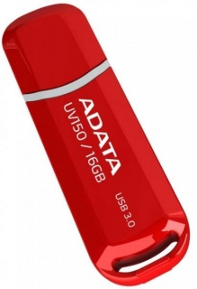 Stick USB 3.1 64GB ADATA UV150 Red, AUV150-64G-RRD