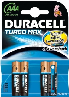 Set Baterii blister 4 buc AAA LR3 Turbo MAX, Duracell
