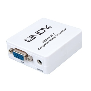 Convertor VGA la 3 x RCA alimentare USB (PC to TV), Lindy L32544
