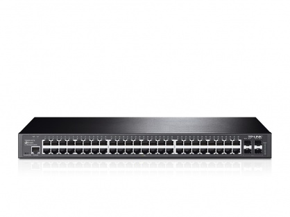 Switch L2 cu management full 48 Porturi 10/100/1000M, 4 sloturi SFP Gigabit, TP-LINK TL-SG3452