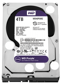 "HDD 4TB PURPLE 64MB S-ATA3 ""4PURZ"" WD SURVEILLANCE"