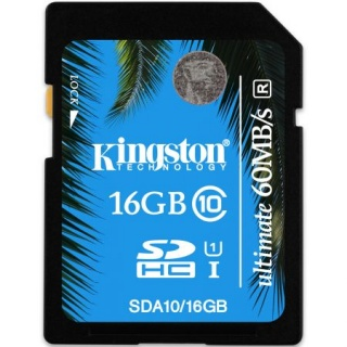 Card de memorie SECURE DIGITAL CARD SDHC Ultimate 16GB (class10), KINGSTON SDA10/16GB