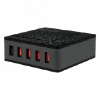 Incarcator priza 1x USB Quick/Fast Charge 2.0 (incarcare rapida) & 4 x USB Smart Charge, 8000mA & 40W