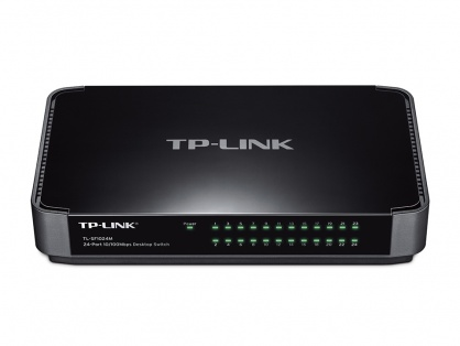 Switch 24 Port-uri 10/100 desktop, carcasa plastic, TP-LINK TL-SF1024M