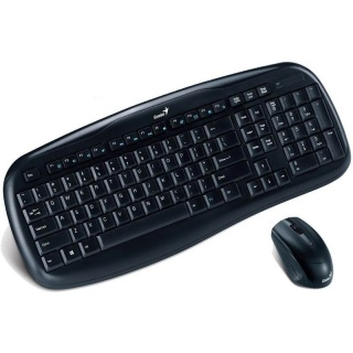 Kit tastatura si mouse wireless KB-8000X, Genius