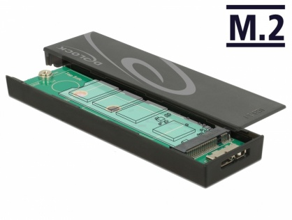 Rack extern toolless M.2 SSD 42/60/80 mm la micro-B USB 3.1 Gen 2, Delock 42598