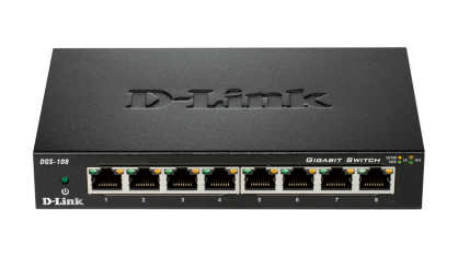 Switch unmanaged 8 port-uri Gigabit, carcasa metalica, D-LINK DGS-108
