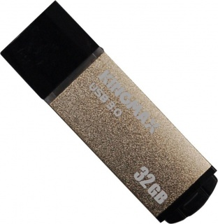 Stick USB 3.0 32GB MB-03, compact, aliaj aluminiu Gold, Kingmax