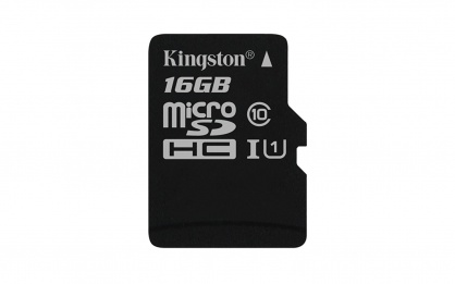 Card de memorie micro SD Canvas Select 16GB clasa 10, Kingston SDCS/16GBSP