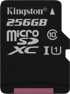 Card de memorie micro SD Canvas Select 256GB clasa 10, Kingston SDCS/256GBSP