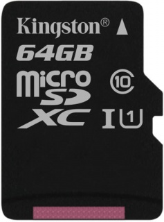 Card de memorie micro SD Canvas Select 64GB clasa 10, Kingston SDCS/64GBSP