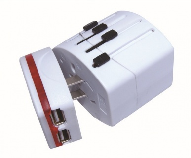Adaptor priza travel Universal + 2 x USB, Spacer SPAD-UNIV