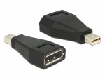 Adaptor mini Displayport la Displayport T-M negru, Delock 65238