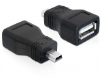 Adaptor USB 2.0 M la conector mini USB T, Delock 65277