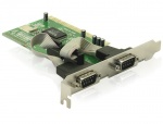Placa PCI la Serial 2 porturi RS232, Delock 89003