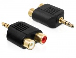 Adaptor audio Stereo jack 3.5 mm 3 pini T la 2 x RCA M, Delock 65365