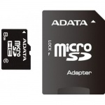 Card memorie micro SDHC 8GB ADATA, adaptor SD, class 10