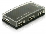 Hub USB 2.0 extern 4 Port, Delock 61393