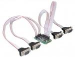 Mini PCIe I/O PCIe full size 4 x serial RS-232 cu Power Management, Delock 95001