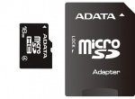 Secure Digital Card micro SDHC 16GB class4 ADATA, adaptor SD