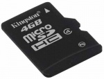 Card de memorie micro SDHC 4GB class 4, KINGSTON SDC4/4GBSP