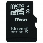 Secure Digital Card micro SDHC 16GB class 4 Kingston